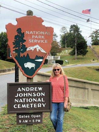Jan at Johnson Cemetery