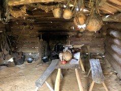 Inside the Crockett cabin