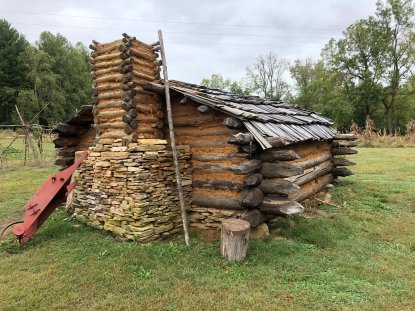 Outside view of the Crockett cabin