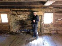 Jan in cabin