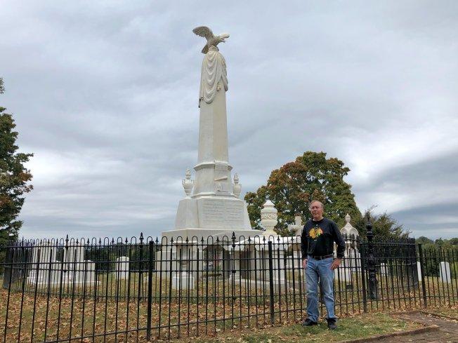 Phil at Johnson family burial plot