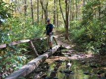 Phil crossing stream