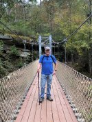 Phil on suspension bridge