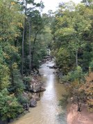 View of Black Creek from top of falls