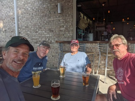 Dave, Phil, Tom and Todd at Big Beach Brewing Co.