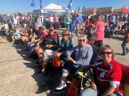 Relaxing at the air show