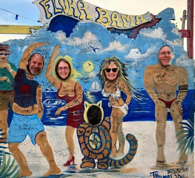 Dave, Jo, Jan and Phil at Flora-Bama
