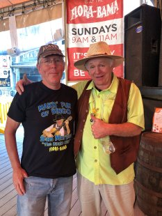 Phil with Sam Morgan at Flora-Bama Bingo