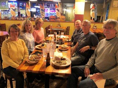 Beth's birthday dinner at Crab Trap