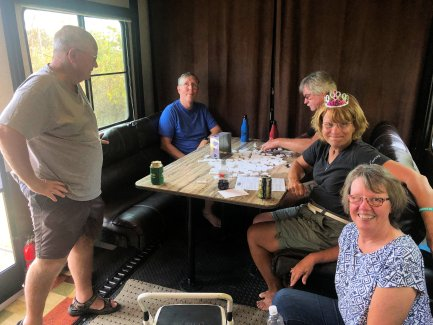 Playing Mexican Train with the Rykals and Ehlenfeldts