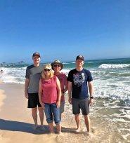 Wading in the Gulf at Orange Beach