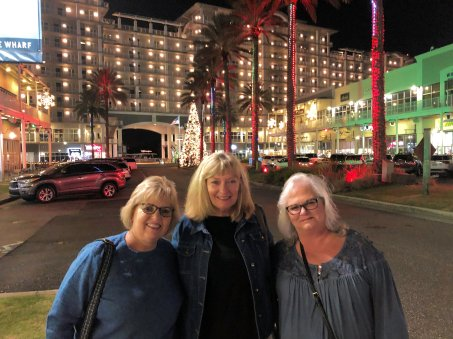 Michelle, Jan and Sheila at The Wharf