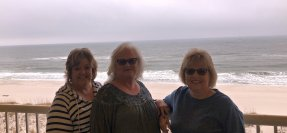 Helena, Sheila and Michelle overlooking the beach