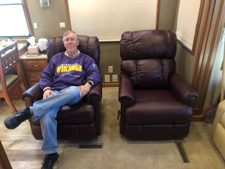 Phil trying out the new recliner