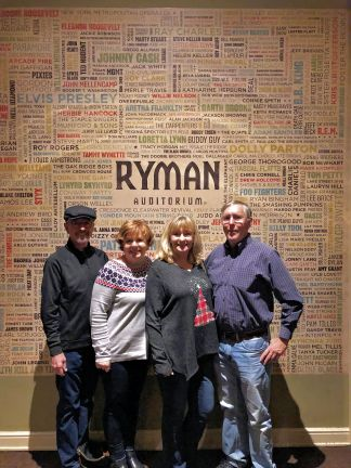 The Dunlaps and Gordons at Ryman Auditorium