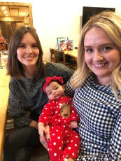 Katie and Brittany with baby Elena