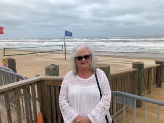 Sheila by the beach at South Padre Island
