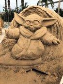 Yoda sand castle