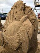 Sea turtle sand castle