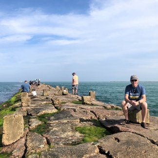 Phil on jetty