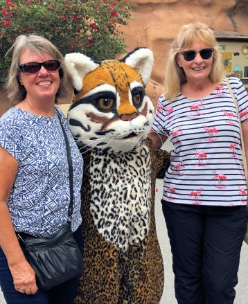 Beth & Jan with zoo mascot