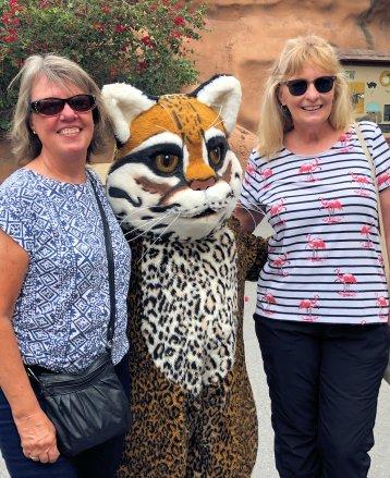 Beth & Jan with zoo mascot