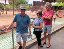 Phil, Beth and Todd at the giraffe enclosure