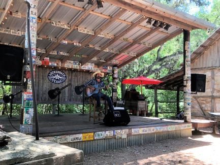 Enjoying music at Luckenbach