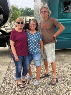 Jan, Beth and Todd saying goodbye