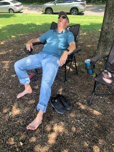 Relaxing at Zilker Park