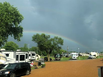 Rainbow over Grand Ole RV Resort