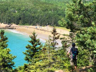 View of Sand Beach from trail