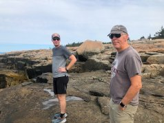 Jason and Phil at Schoodic Point